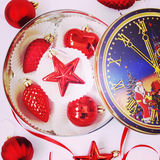 Red christmas toys Stock Image