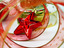 Red christmas toys Royalty Free Stock Photos