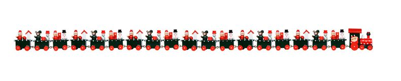 Red Christmas train Royalty Free Stock Image