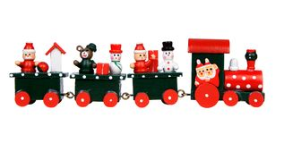 Red Christmas train Royalty Free Stock Photos