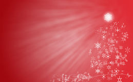 Red christmas tree. A abstract back ground image of christmas tree made from stars Stock Photos