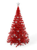 Red Christmas tree Stock Image