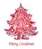 Red Christmas tree Royalty Free Stock Photo