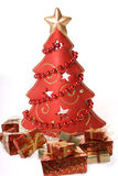 Red christmas tree Stock Photo
