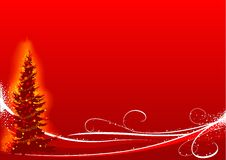 Red Christmas Tree vector illustration