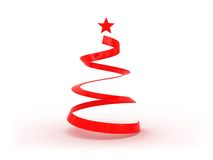 Red christmas tree Royalty Free Stock Image