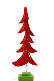Red Christmas tree. On white background Stock Photos