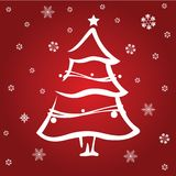 Red christmas tree Stock Images