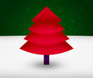 Red Christmas Tree Background Royalty Free Stock Photography