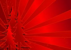 Red Christmas Tree Background Royalty Free Stock Photo