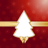 Red christmas tree background and border Royalty Free Stock Images