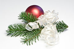 Red christmas tree ball Stock Image