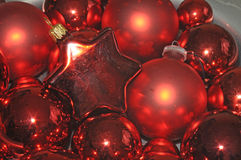 Red Christmas tree balls Royalty Free Stock Photo