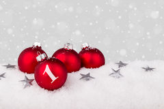 Red christmas tree balls Royalty Free Stock Photography