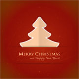 Red Christmas tree card Stock Photo