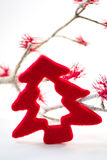 Red Christmas Tree decoration Stock Image