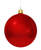 Red christmas tree decoration Stock Photo