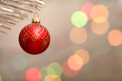 Red Christmas-tree decorations Royalty Free Stock Photos