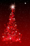 Red Christmas Tree Illustration Stock Photography