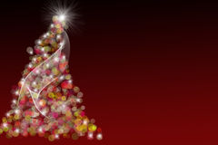 Red Christmas Tree Illustration Royalty Free Stock Image