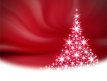 Red Christmas tree illustration Royalty Free Stock Images