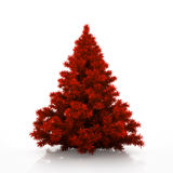 Red christmas tree isolated on white background Royalty Free Stock Photo