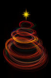 Red christmas tree light painting Royalty Free Stock Photos