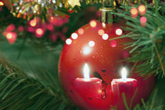 Free Red Christmas Tree Ornament Royalty Free Stock Photography - 34555607
