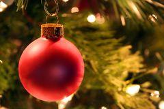 Red Christmas Tree Ornament Stock Photo