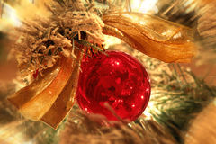 Red christmas tree ornament Royalty Free Stock Photos
