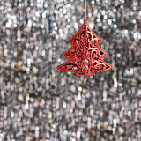 Red Christmas tree ornament Royalty Free Stock Image