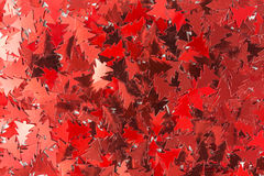 Red christmas tree sequins Stock Image