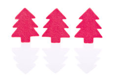 Red christmas tree sign Royalty Free Stock Photography