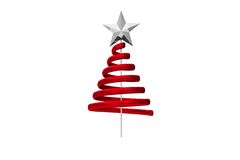 Red christmas tree spiral design Royalty Free Stock Photos