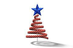 Red christmas tree spiral design Stock Image