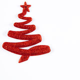Red Christmas Tree. A red christmas tree on white background Royalty Free Stock Photo
