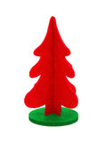 Red christmas tree on white background Stock Images