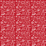 Red Christmas wallpaper. With new year theme stock illustration