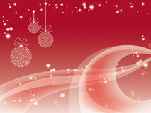 Red christmas wallpaper Royalty Free Stock Images