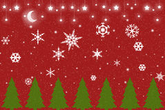Red Christmas Winter Background Stock Photos