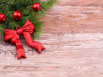 Red christmas wreath Royalty Free Stock Photo