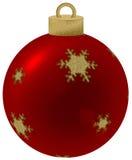 Red chritsmas ball. Red and golden chritsmas ball Stock Images
