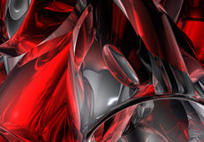 Red&chrom pipes 01 Royalty Free Stock Photo