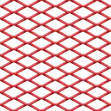 Red chrome Steel Grating seamless structure. Chainlink isolated on white background.  Vector illustration. EPS 10 Royalty Free Stock Photo