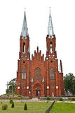 Red Church. The Christian church high in the sky Stock Photography