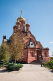 Red church , Astrakhan, Russia Royalty Free Stock Image