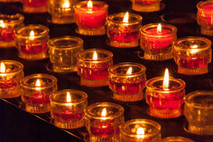 Red church candles III Stock Image