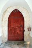 Red church door Royalty Free Stock Photos