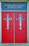 Red Church Doors royalty free stock photo
