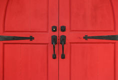 Red Church Doors Royalty Free Stock Image